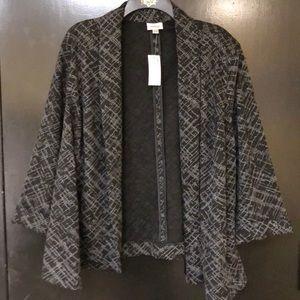 Grey and black woven blazer